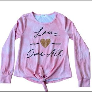 Beautees Love Over Pink Ombre Knitted Girl Top